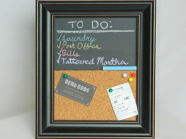 Cork And Chalkboard Picture Frame